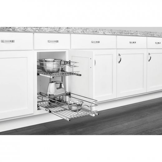 12 Inch Two-tier Pull-Out Baskets Soft Close