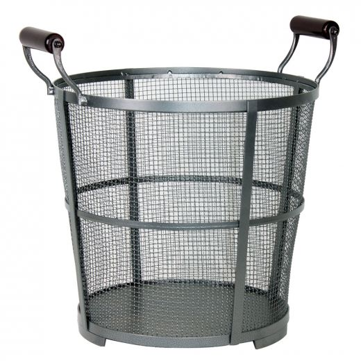 Modern Prairie Antique Pewter Mesh Log Basket