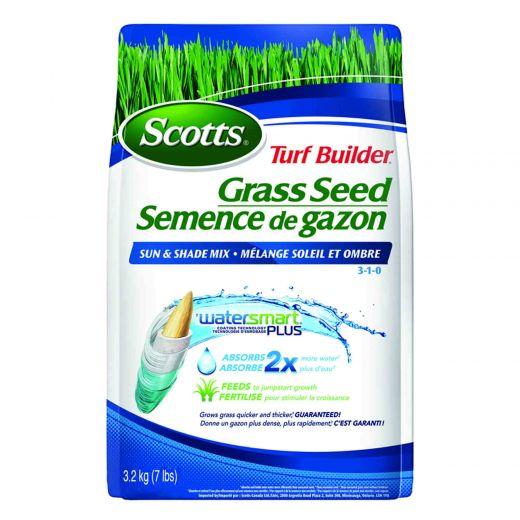 Scotts Turf Builder Grass Seed Sun & Shade Mix 3-1-0 3.2 Kg