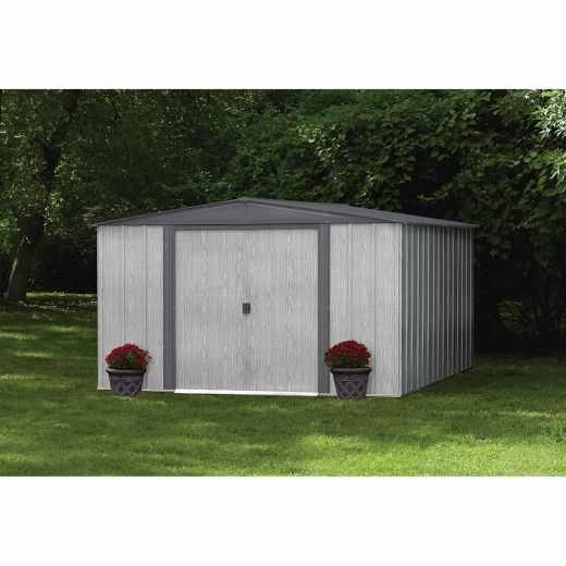 Driftwood Series 10' x 10' Galvanized Shed