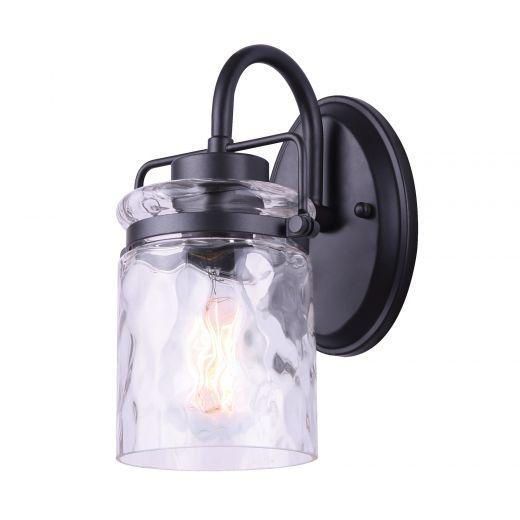 Arden 1 Light Vanity, Graphite, Watermark Glass