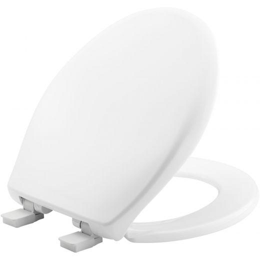 Round Plastic Toilet Seat In White with STA-TITE®