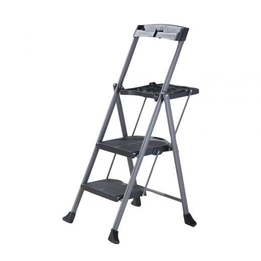 Steel Folding Deluxe 2-Step Ladder