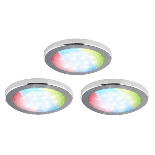 Slim Pucks RGB LED 1.5W Includes Remote-3/Pack
