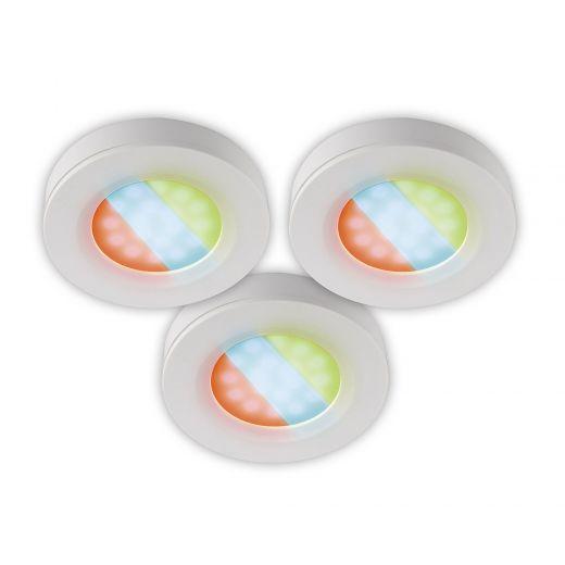 3-Puck LED Undercabinet Kit RGB 3W