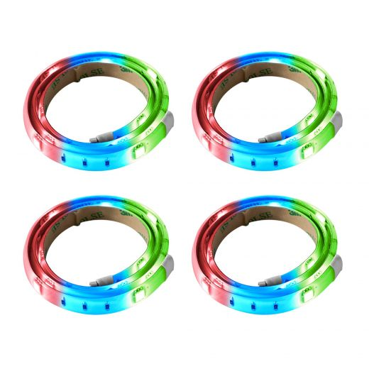 """10"""" Flexible Led Undercabinet Strips Remote Included-4/Pack"""