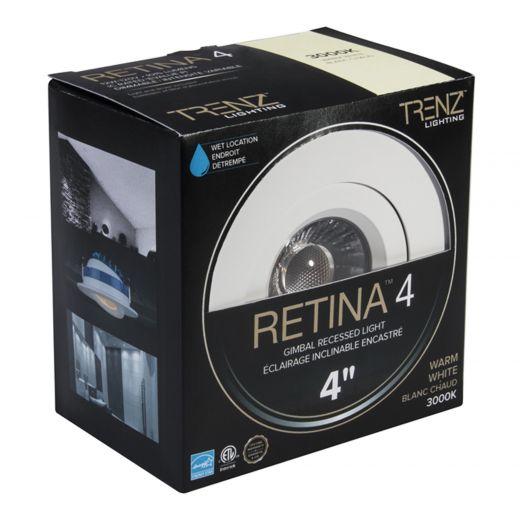 """Retina 4"""" Gimbal Round 3000 Kelvin Wet Rated"""