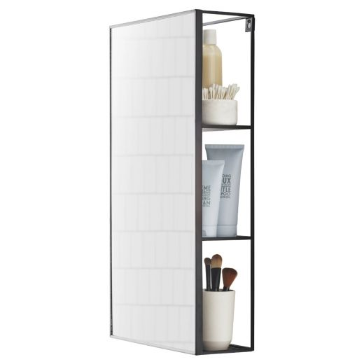 Cubiko Black Mirror and Storage Unit