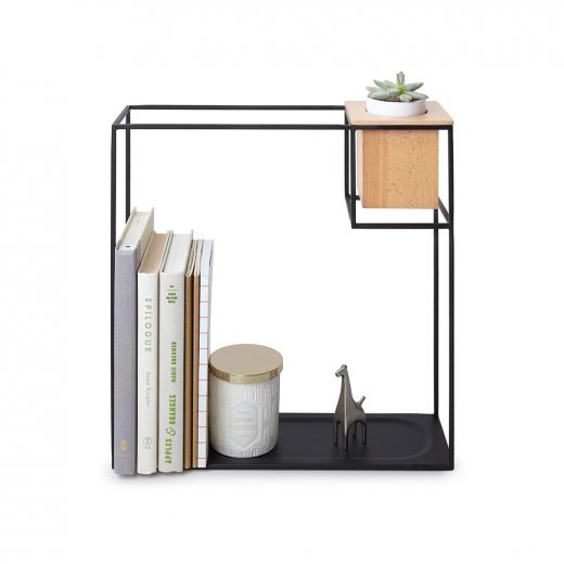 Cubist Large Black and Wood Wall Display