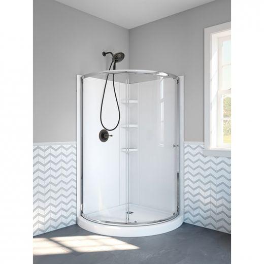 Round Front Corner Shower Encloseure