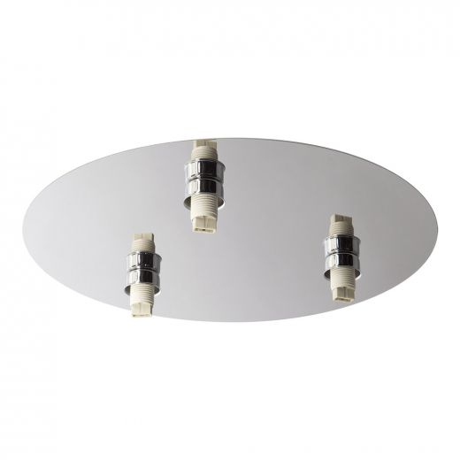 Lubik Chrome Triple Round Ceiling LED Light 3.5''