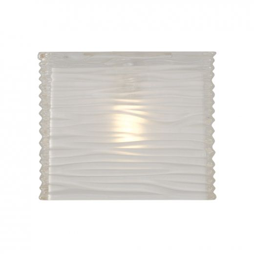 Linear Pattern Translucent Glass Shade
