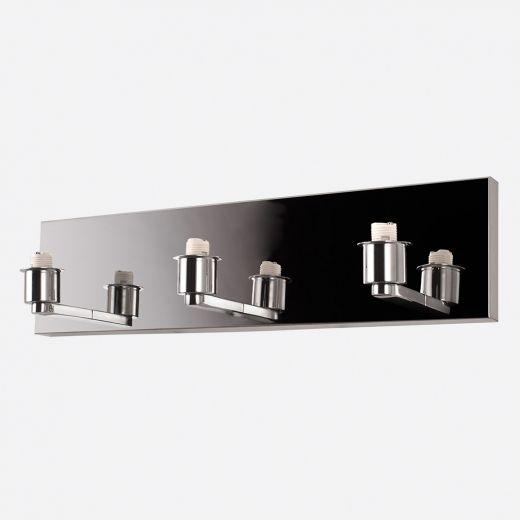 Lubik Chrome LED Triple Wall Sconce