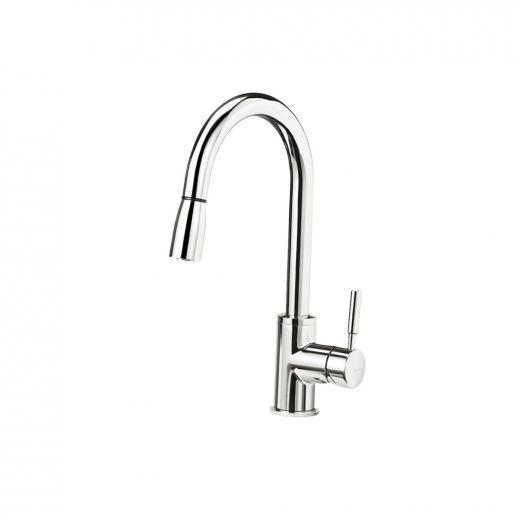 Sonoma Pull-Down Chrome Dual Spray Kitchen Faucet