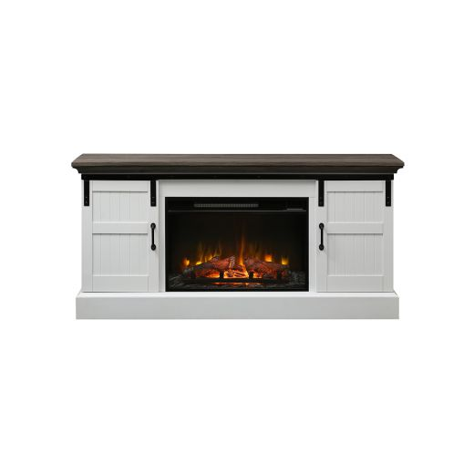 Calvin Media Console with Electric Fireplace