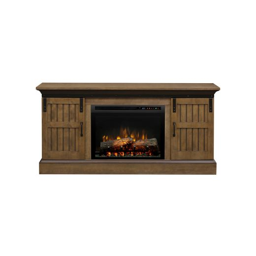 Lincoln Media Console with Electric Fireplace
