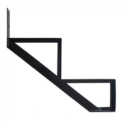 Aluminum 2 Step Black Stair Riser