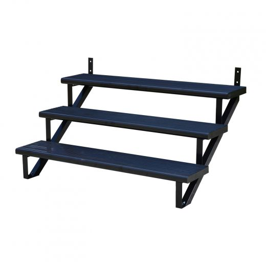 Aluminum 3 Step Black Stair Riser