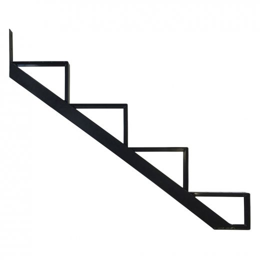 Aluminum 4 Step Black Stair Riser