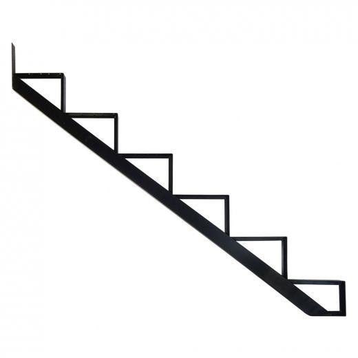 Aluminum 6 Step Black Stair Riser