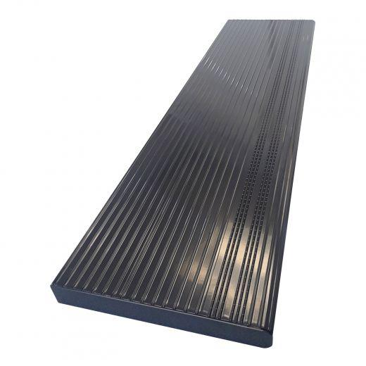 """48"""" Black Aluminum Stair Tread"""