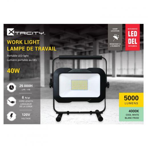LED 40 Watts 5000 Lumen Integreted Work light with USB