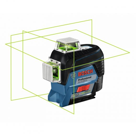 360 Degree Connected Green Beam 3-Plane Line Laser