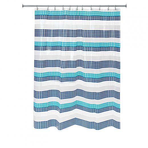 "72"" x 72"" Zoey Stripe PEVA Bathroom Shower Curtain"
