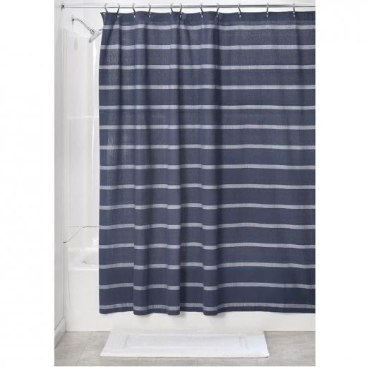 "72"" x 72"" Thin Striped Fabric Shower Curtain"