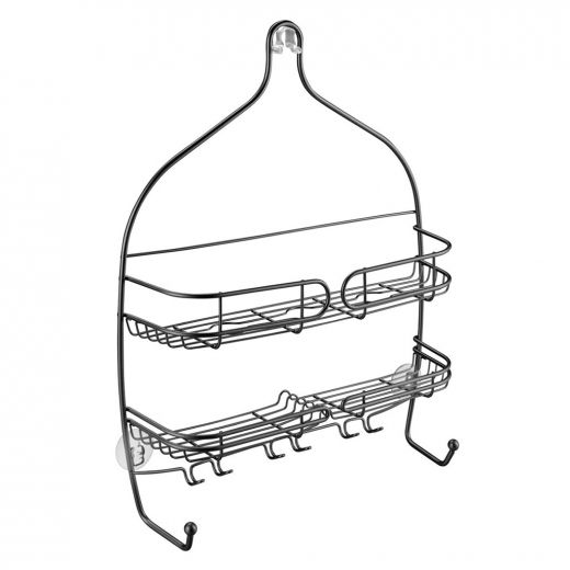 Neo Matte Black Large Wire Hanging Shower Caddy