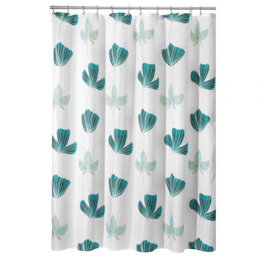 "72"" x 72"" Blue Ava Floral Shower Curtain"