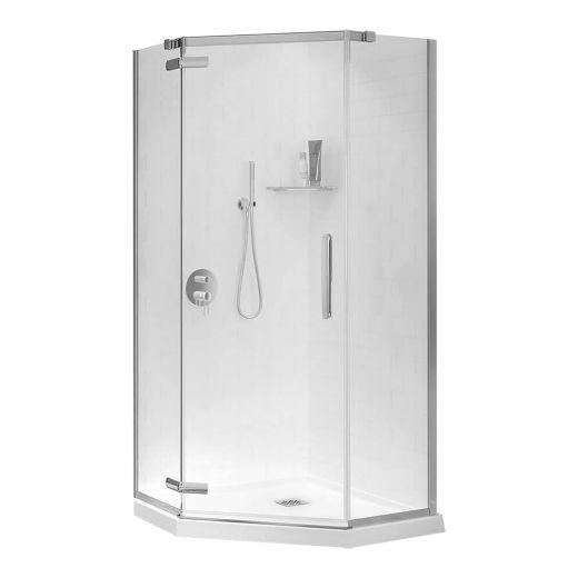 "40"" Hana Clear And Chrome Neo-Angle Shower Door"