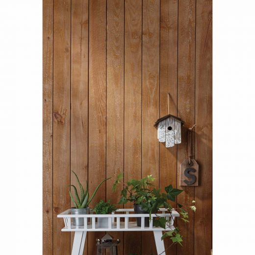 8' Shiplap Brown Wood Shiplap Wall Panel