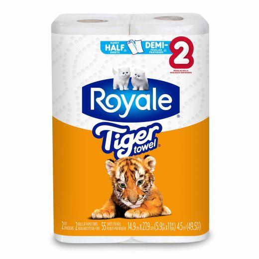Royale Tiger Towel-2/Pack