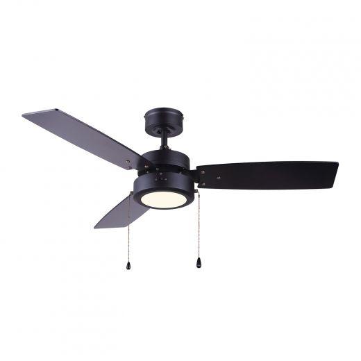 """42"""" Matte Black Wallis LED 3 Blade Ceiling Fan"""