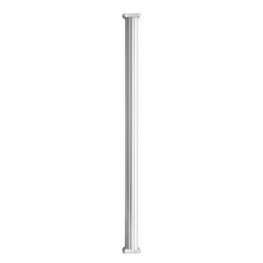 "5-1/4"" x 10' White Round Aluminum Column"
