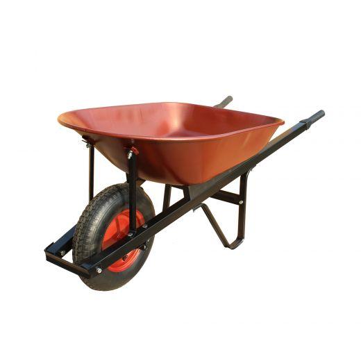 5 Cubic Feet Steel Tray Wheelbarrow
