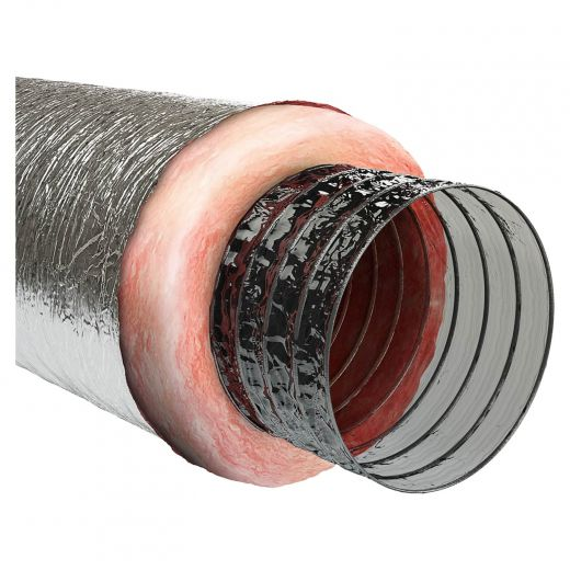 """5"""" x 25"""" Silver Insulated Air Duct"""