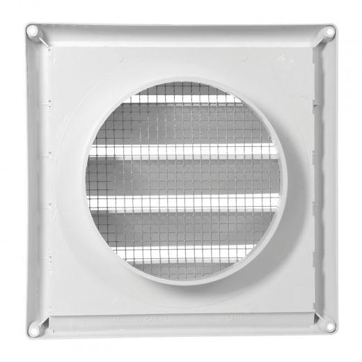 "6"" White Air Intake Cap With Metal Screen"