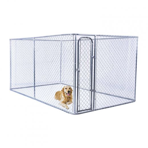 Chain Link Dog Kennel 5' x 10' x 6'