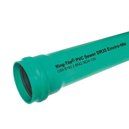 """PVC Gasket Sewer 6"""" Pipe Green DR 35 Envirotite"""