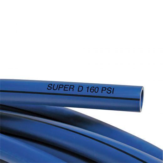 """Poly Pipe 1""""x1500' Black Stripe 160PSI"""