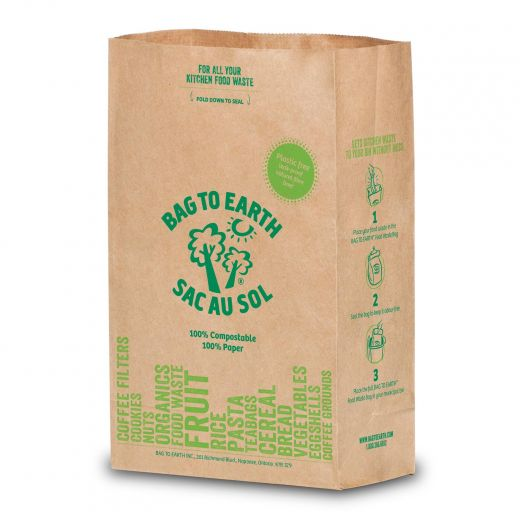Small Paper Food Waste Bag