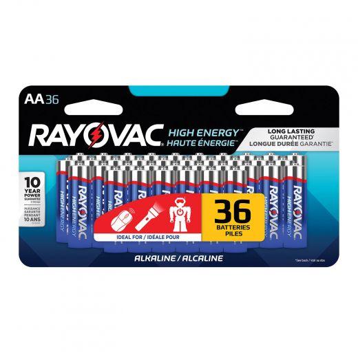 Rayovac High Energy AA Batteries-36/Pack