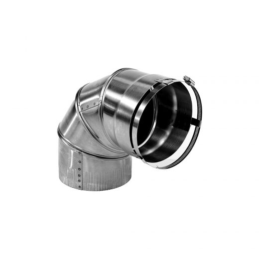 """Selkirk 5"""" x 90 Degree Elbow Rigid Liner Stainless"""