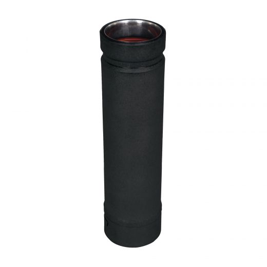 "Selkirk 4"" x 12"" Adjustable Length Pellet Vent Black"