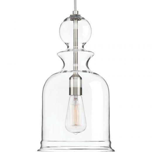 Staunton: 1 light Pendant, Cloche Shape Glass Shade