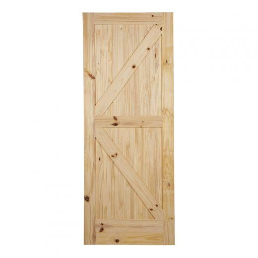 """33"""" x 84"""" K Barn Knotty Pine Door"""