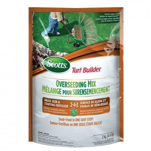 Scotts Turf Builder Overseed Mix And Start Fertilizer 2-4-2