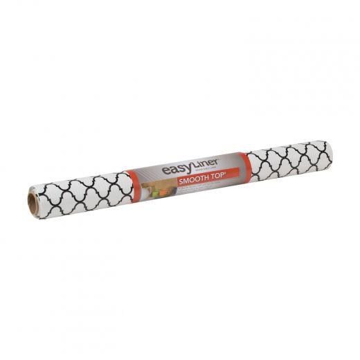 Smooth Top EasyLiner Brand Shelf Liner - Black Quatrefoil